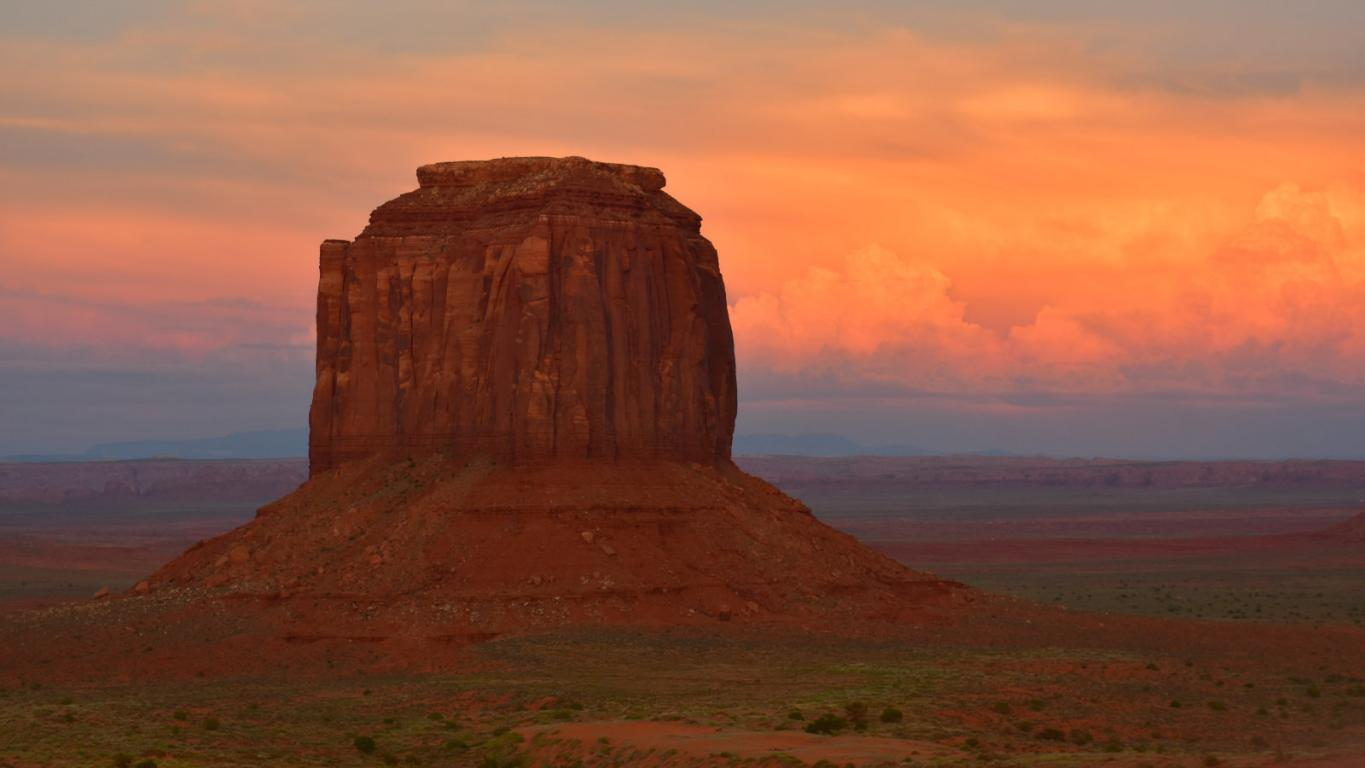 monument valley sonnenuntergang