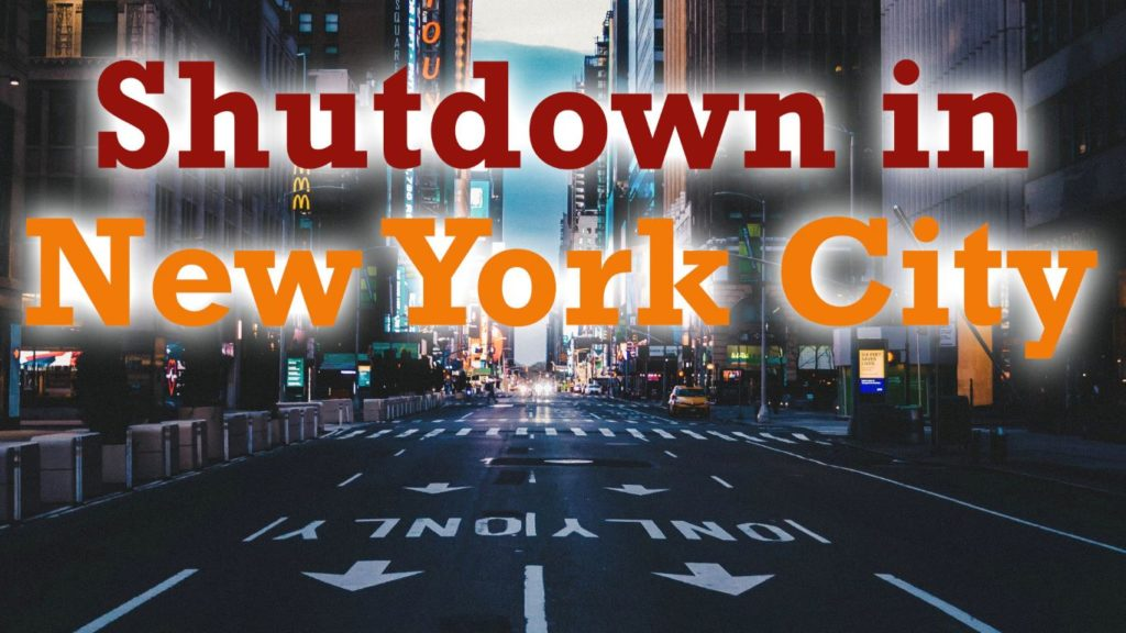 New York im Shutdown durch den Coronavirus