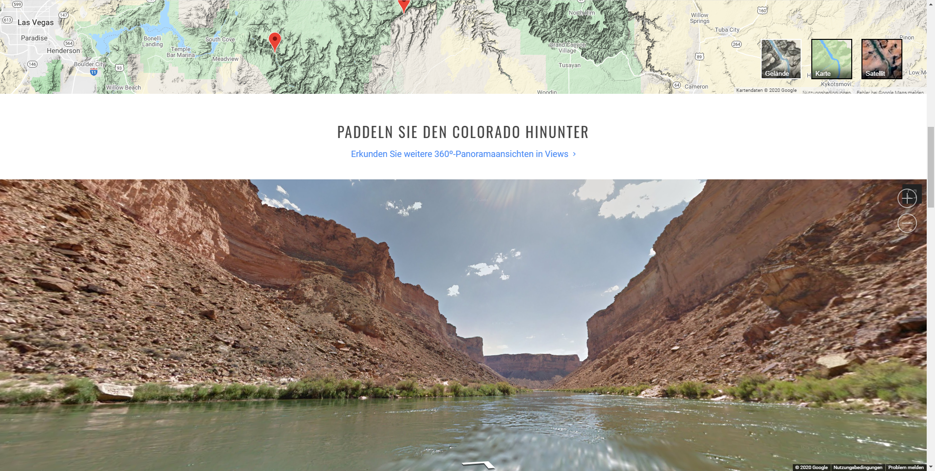 Der Grand-Canyon bei Google